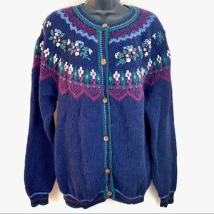 Vintage Knit Northern Reflections Cardigan  L